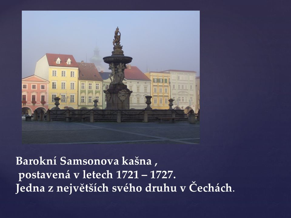 Barokní Samsonova kašna ,