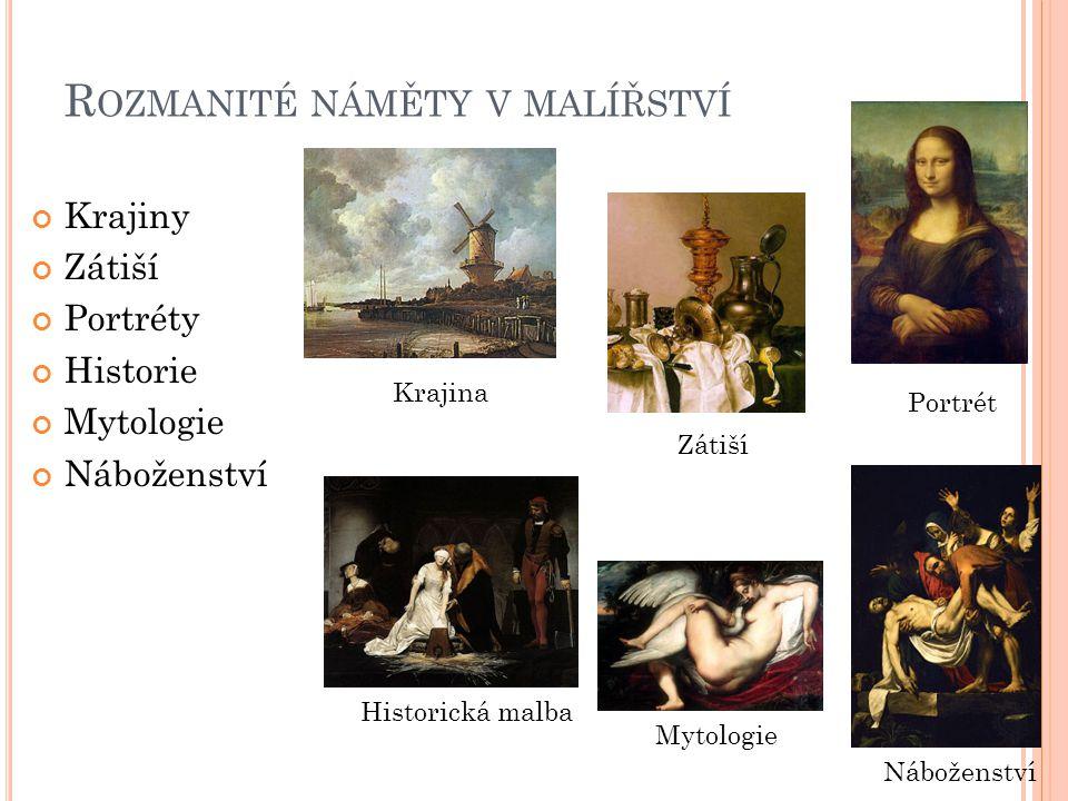 Rozmanité náměty v malířství