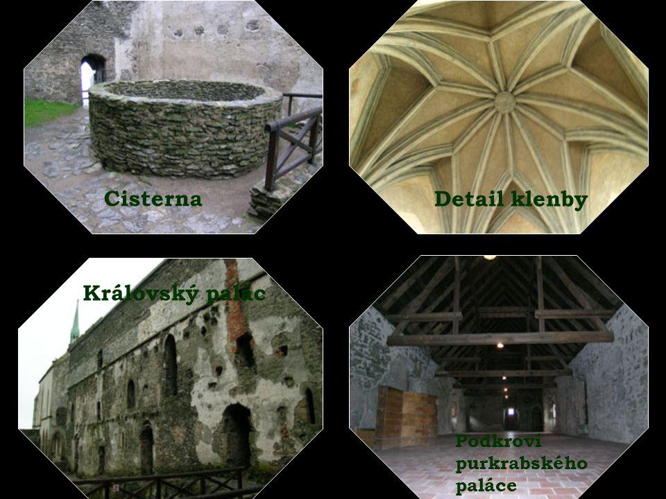 Cisterna Detail klenby Královský palác Podkroví purkrabského paláce