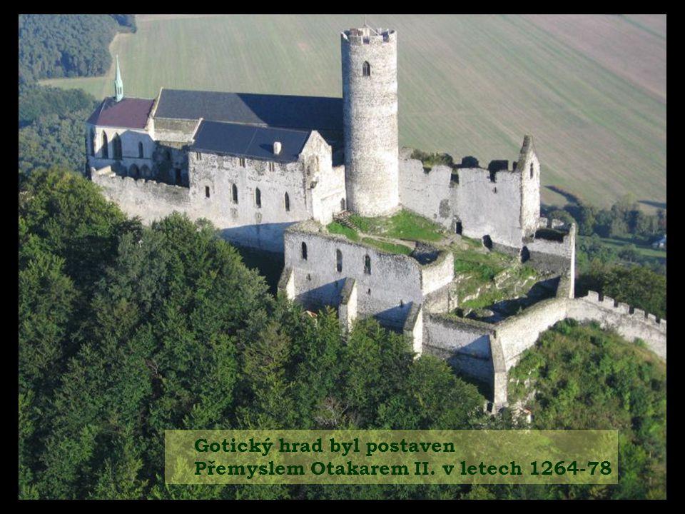 Gotický hrad byl postaven