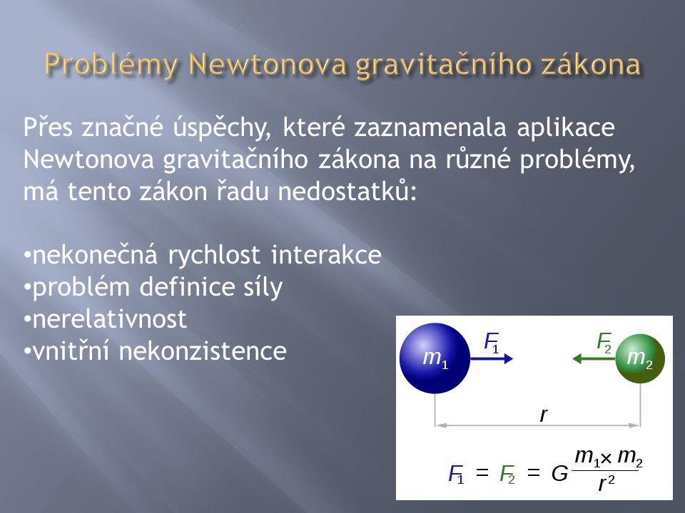 Problémy Newtonova gravitačního zákona