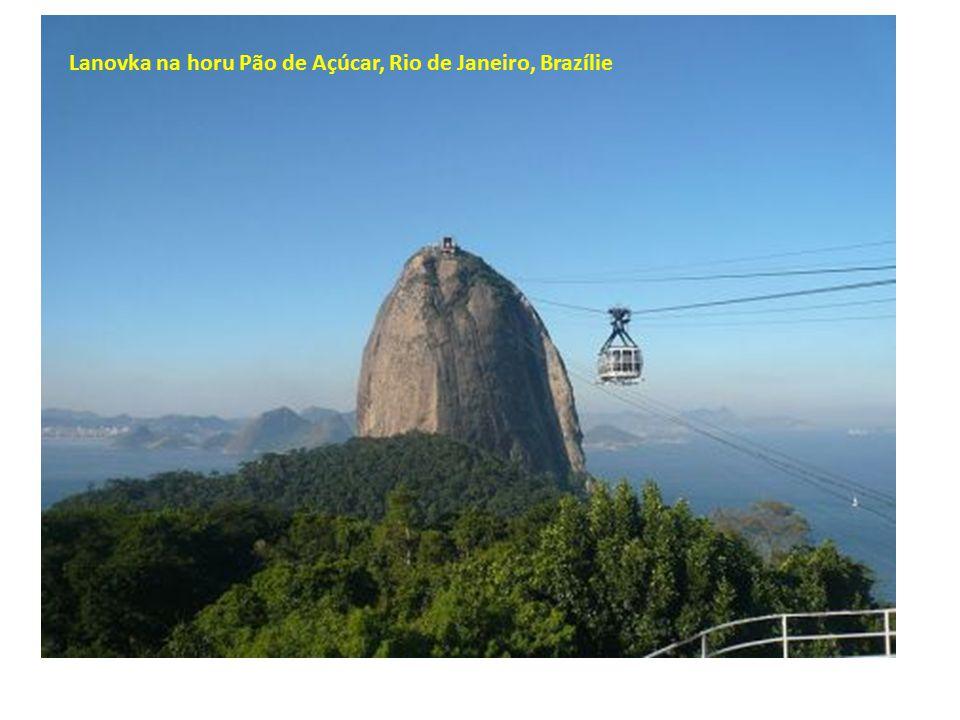 Lanovka na horu Pão de Açúcar, Rio de Janeiro, Brazílie