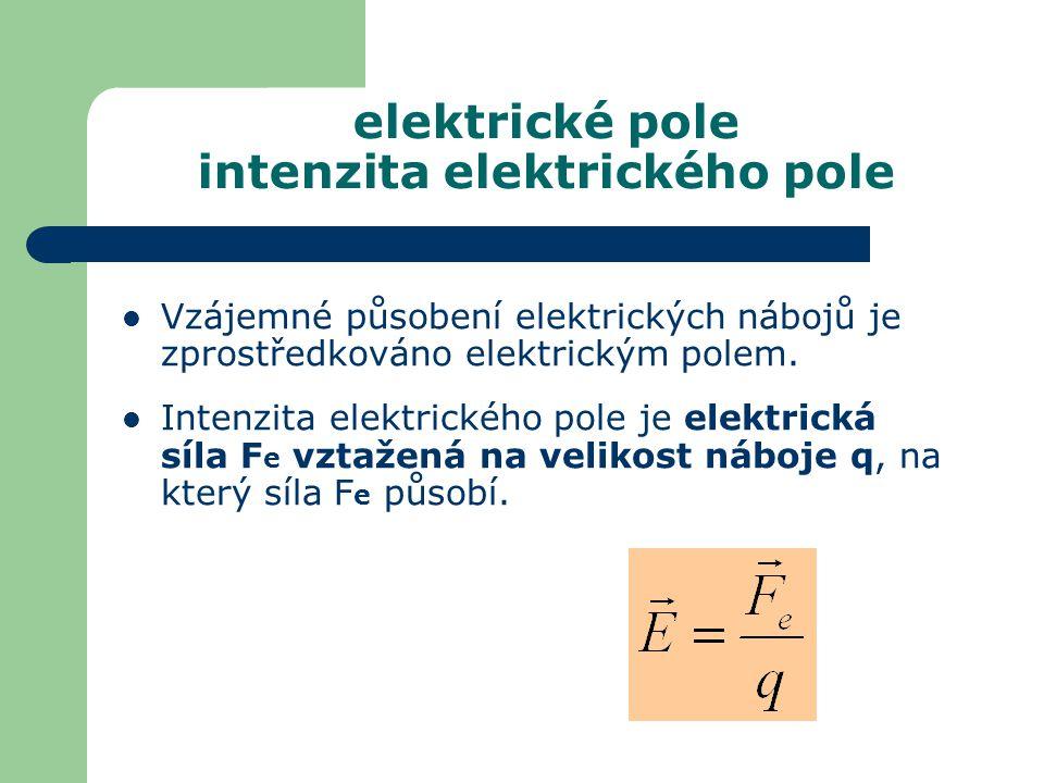 elektrické pole intenzita elektrického pole