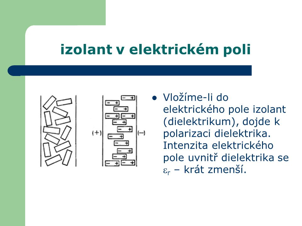 izolant v elektrickém poli
