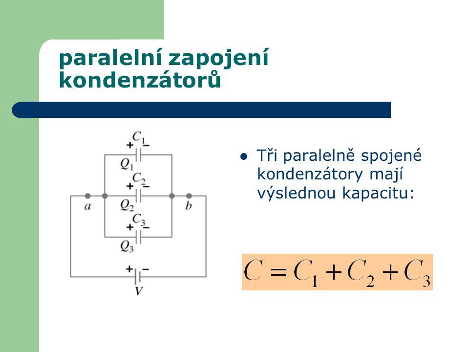 paralelní zapojení kondenzátorů
