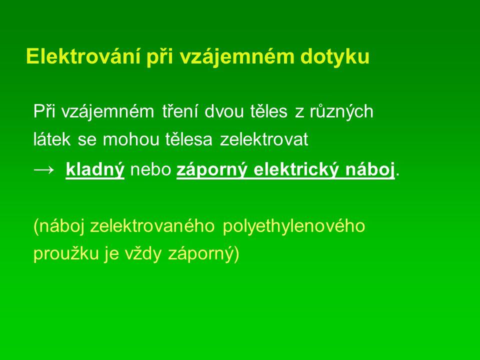 Elektrování při vzájemném dotyku
