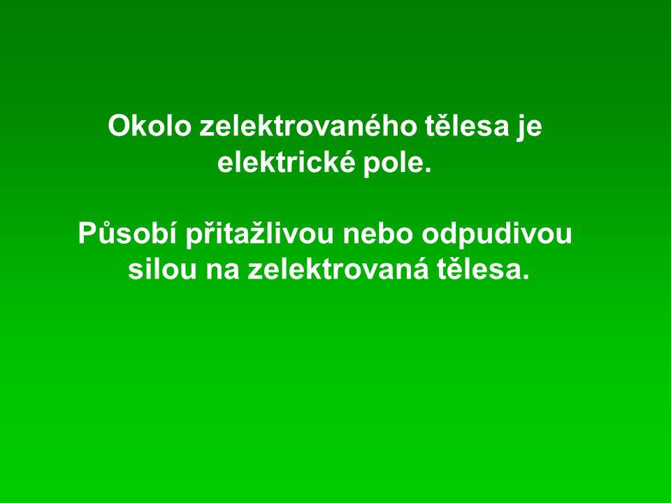 Okolo zelektrovaného tělesa je elektrické pole.