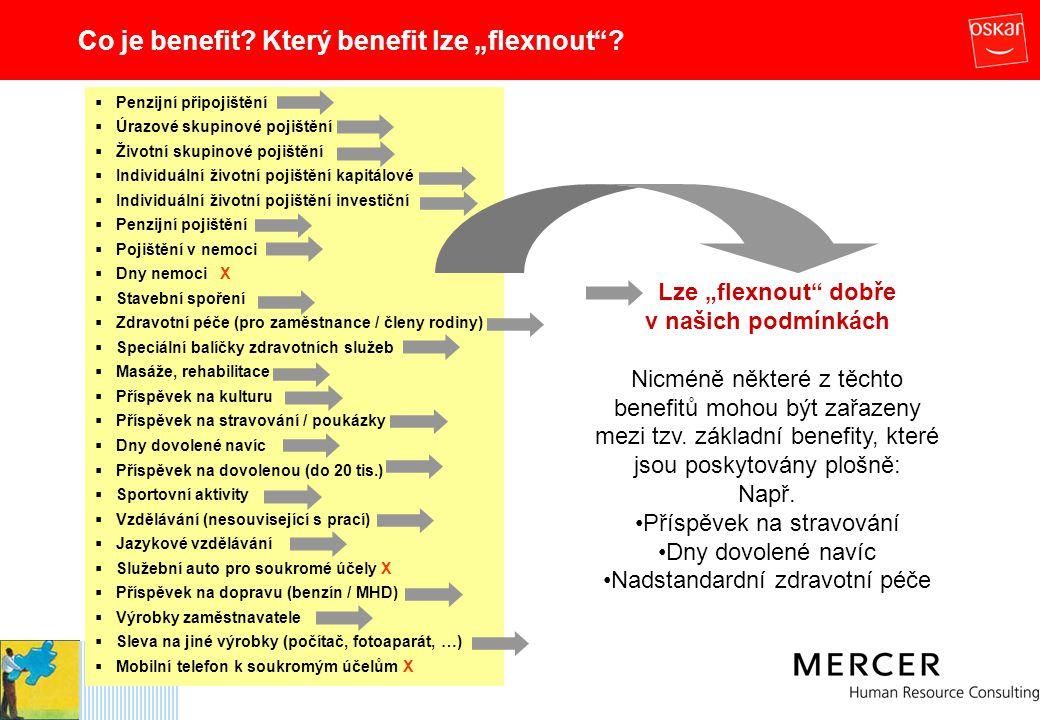 "Co je benefit Který benefit lze ""flexnout"
