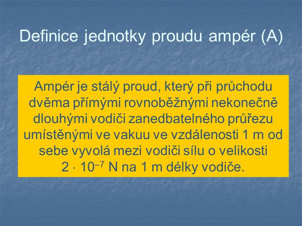 Definice jednotky proudu ampér (A)