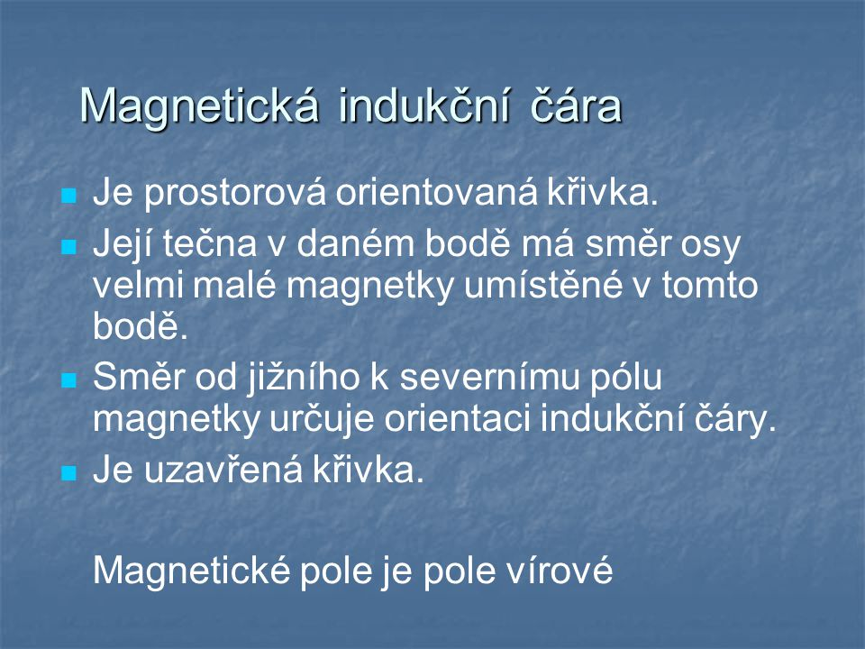 Magnetická indukční čára