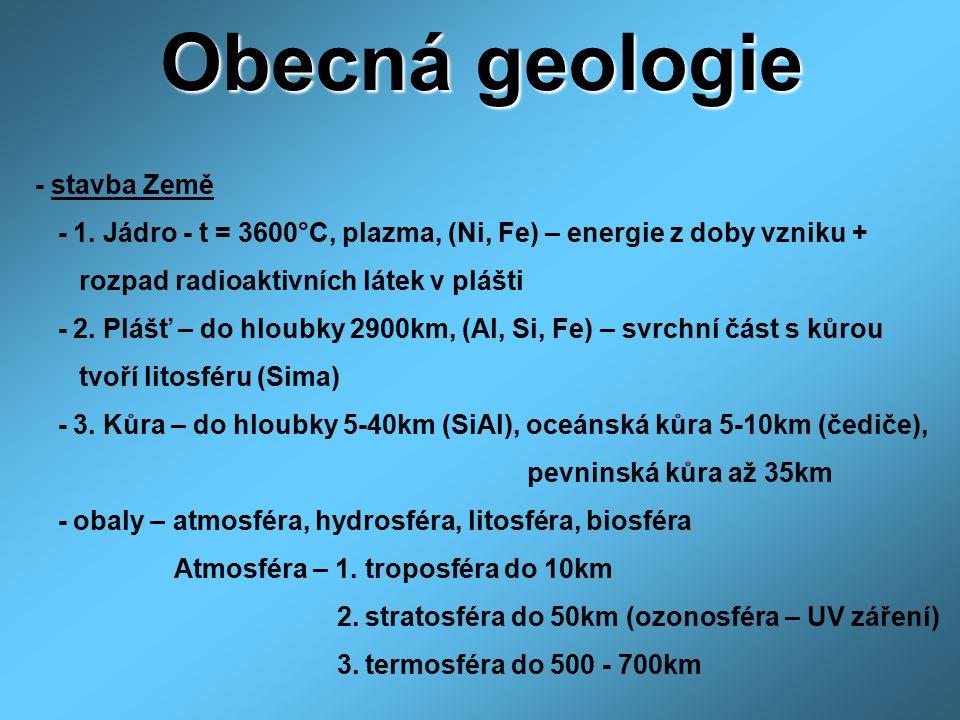 Obecná geologie - stavba Země