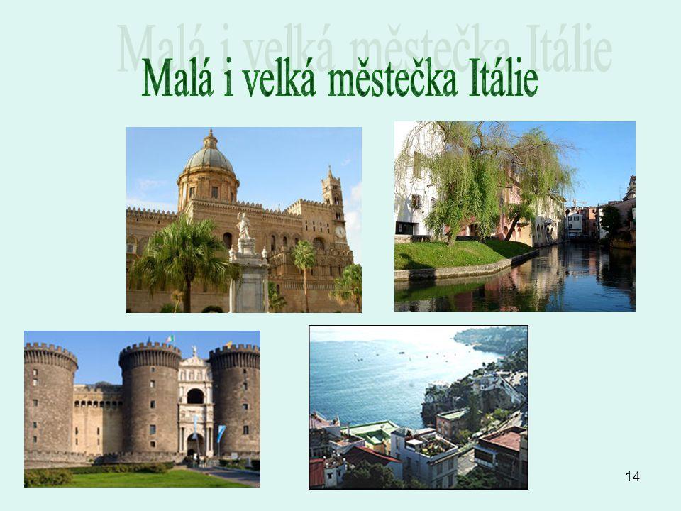 Malá i velká městečka Itálie