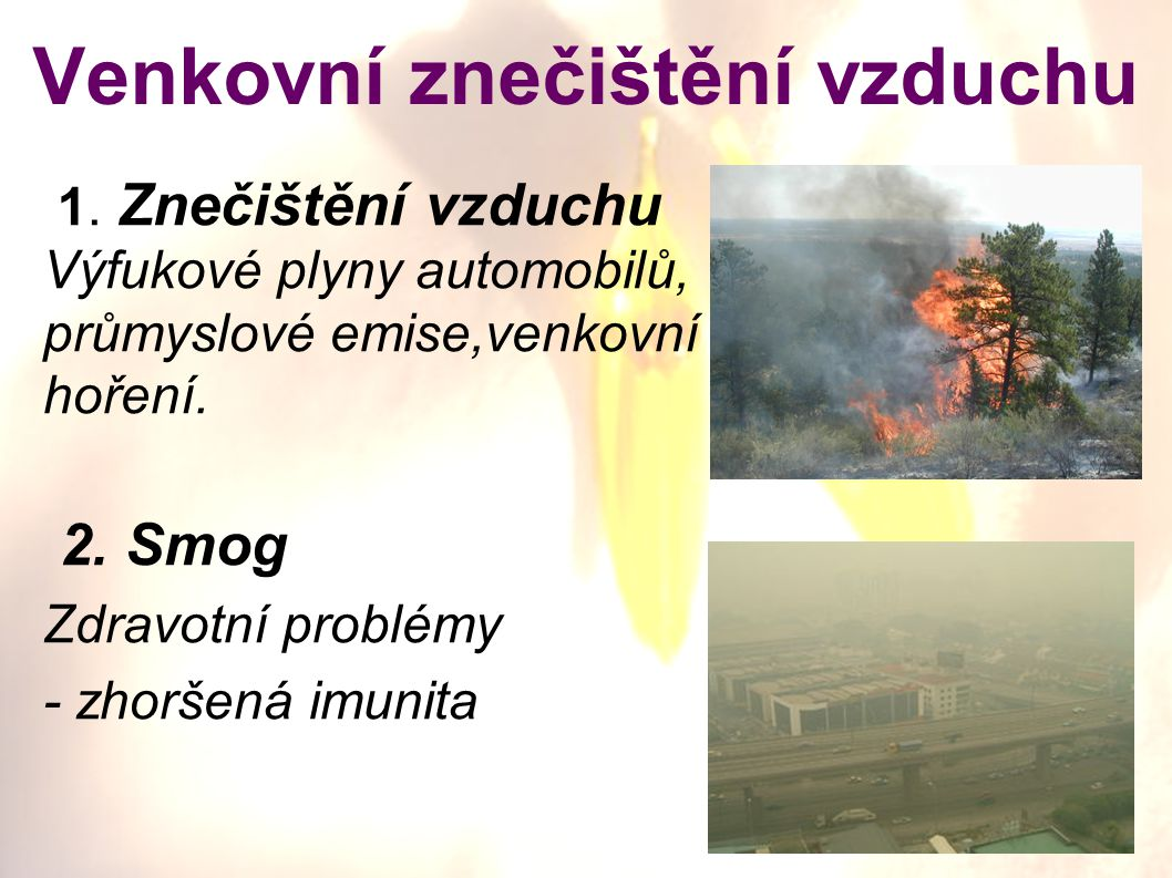 Venkovní znečištění vzduchu
