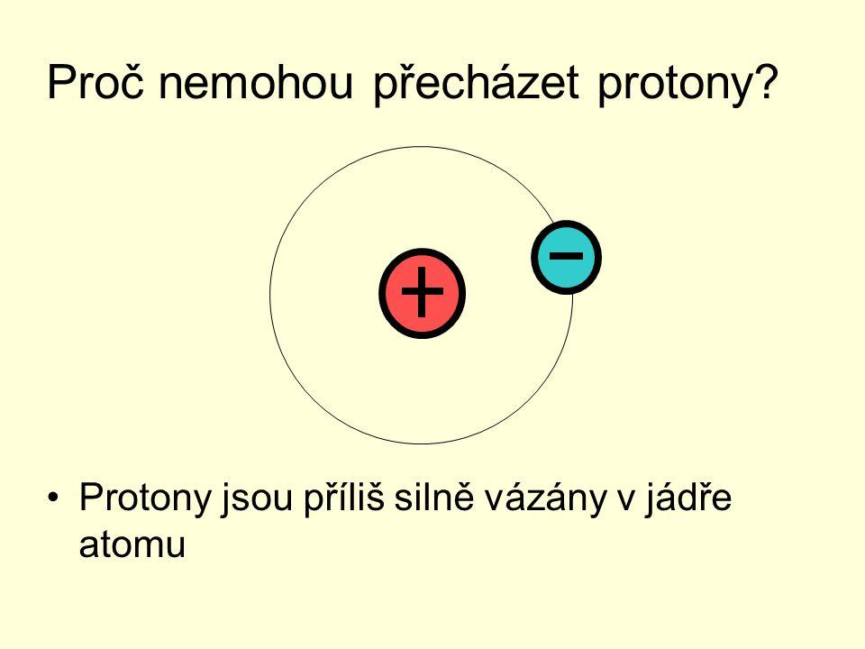 Proč nemohou přecházet protony