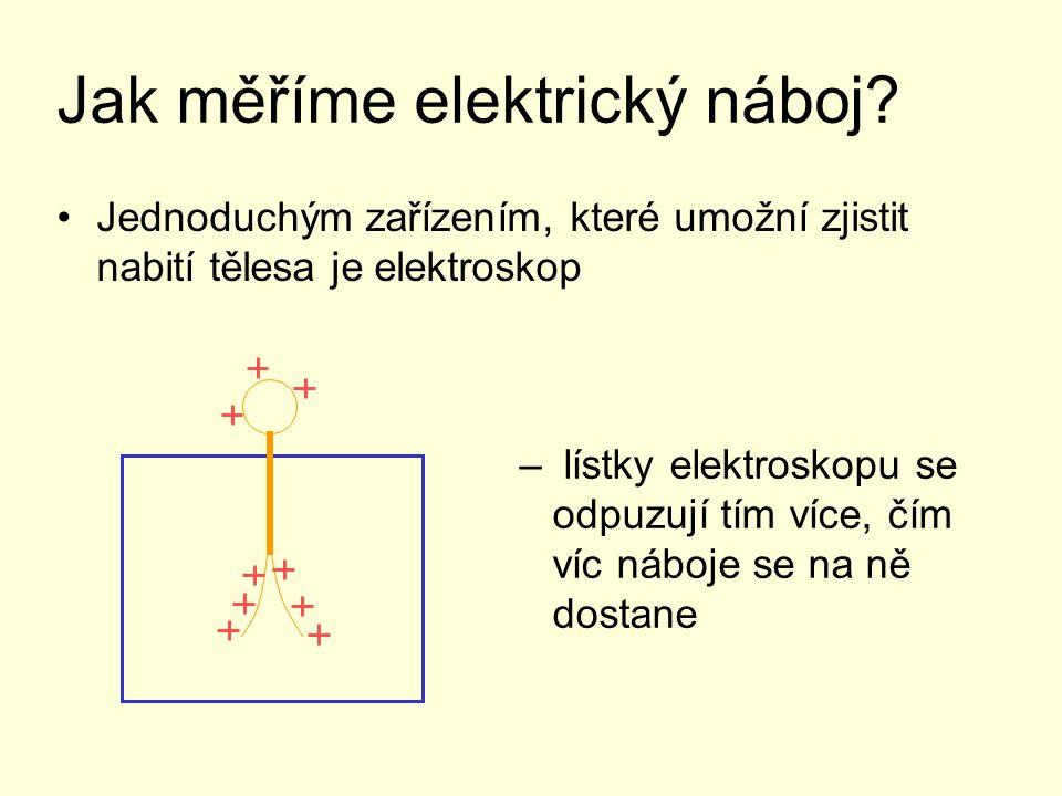 Jak měříme elektrický náboj