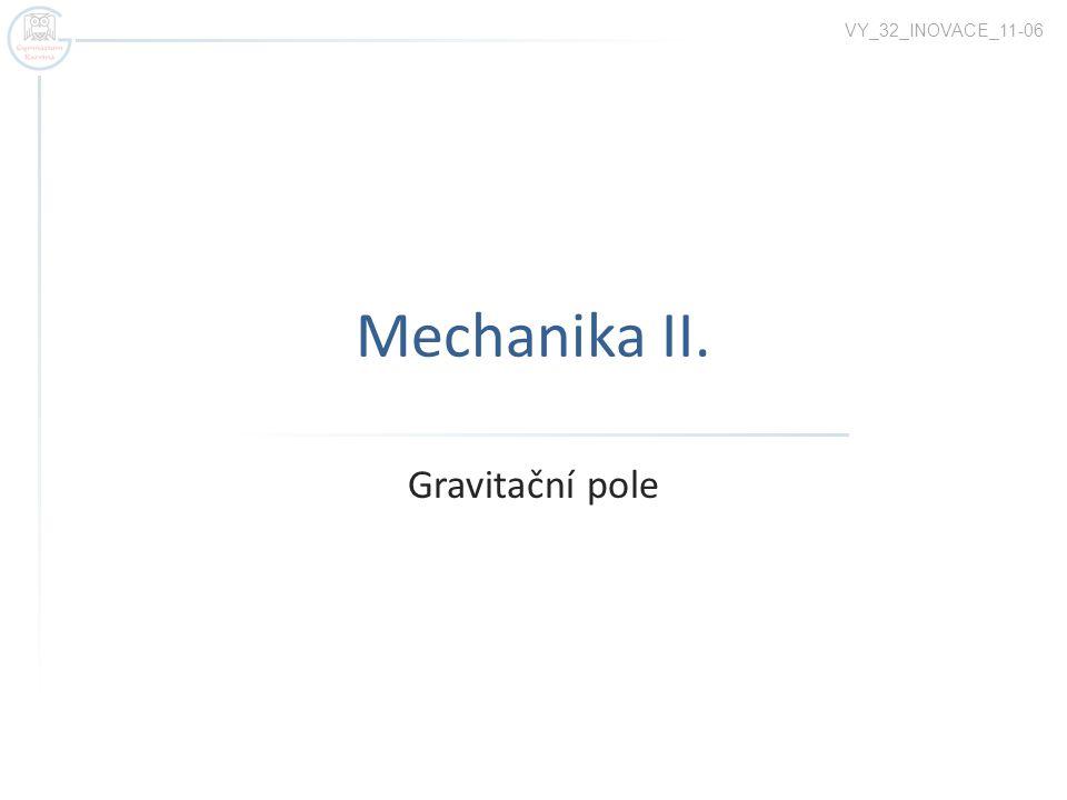 VY_32_INOVACE_11-06 Mechanika II. Gravitační pole