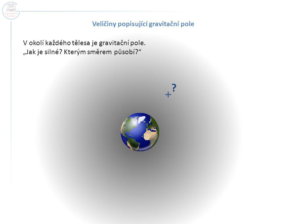 Veličiny popisující gravitační pole
