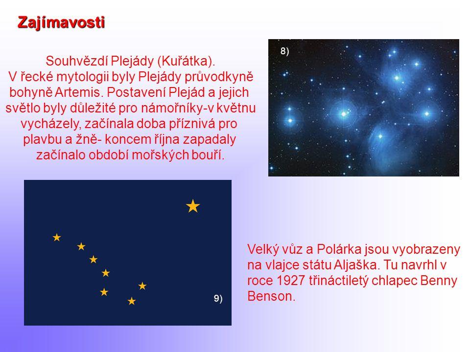 Zajímavosti Souhvězdí Plejády (Kuřátka).