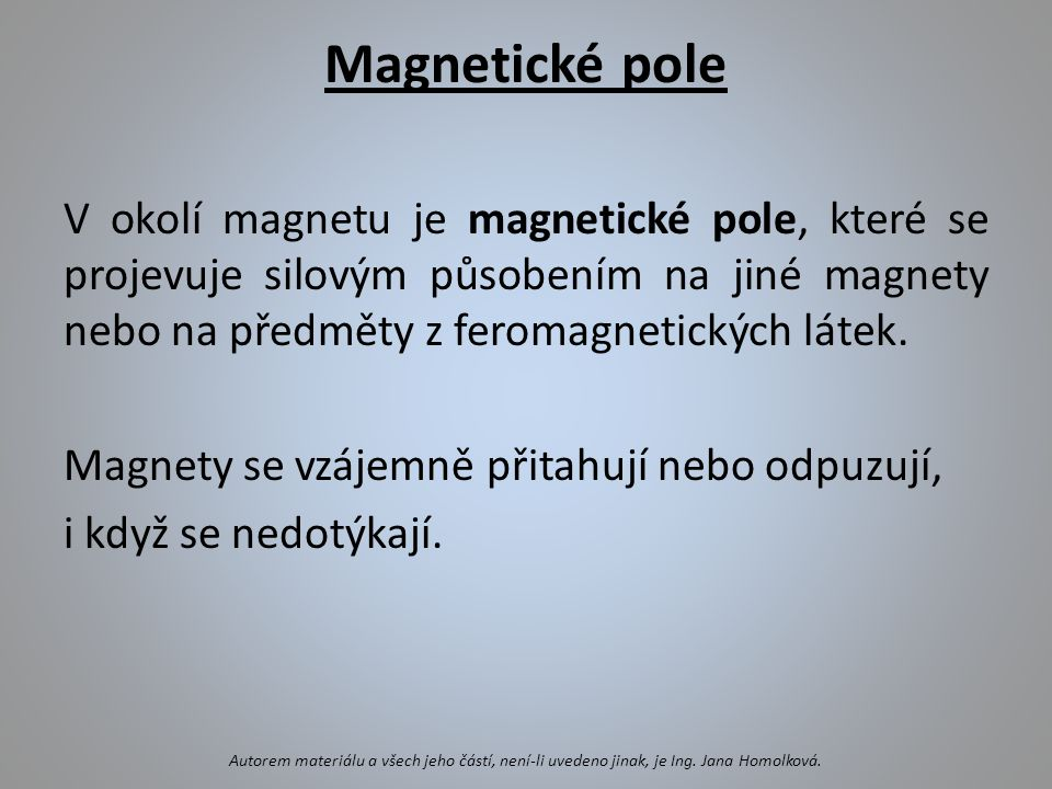 Magnetické pole