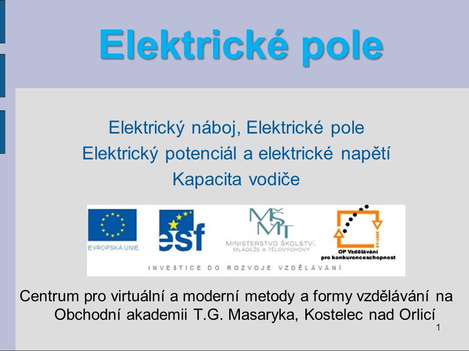 Elektrické pole Elektrický náboj, Elektrické pole