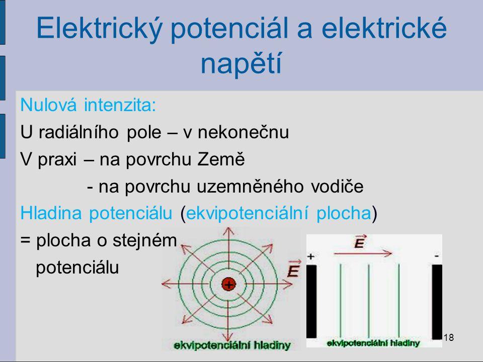 Elektrický potenciál a elektrické napětí