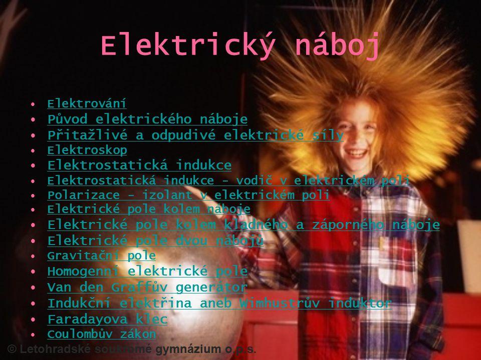 Elektrický náboj Původ elektrického náboje