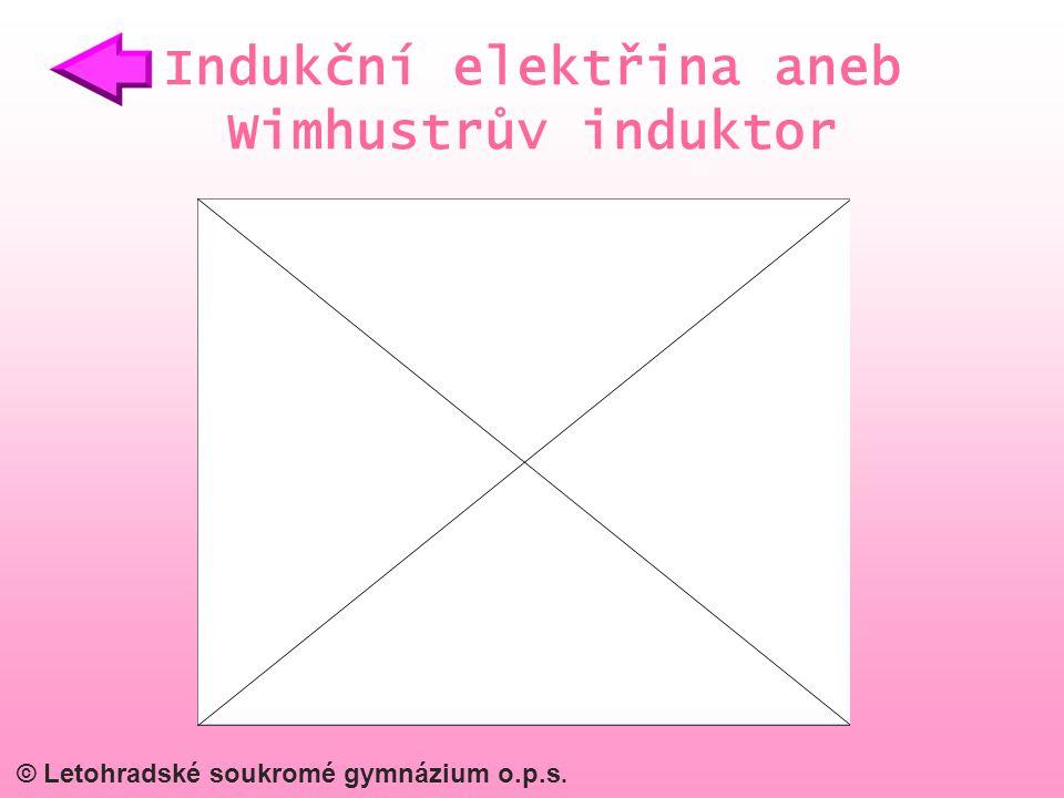 Indukční elektřina aneb Wimhustrův induktor