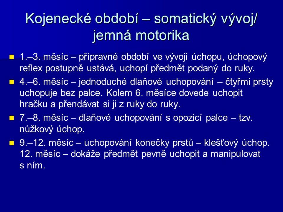Kojenecké období – somatický vývoj/ jemná motorika