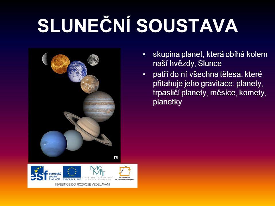 SLUNEČNÍ SOUSTAVA skupina planet, která obíhá kolem naší hvězdy, Slunce.