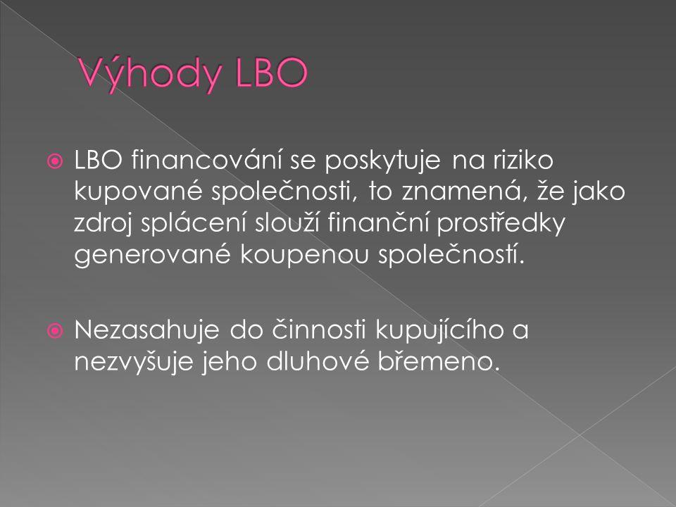 Výhody LBO