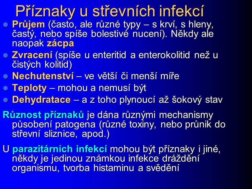 Příznaky u střevních infekcí
