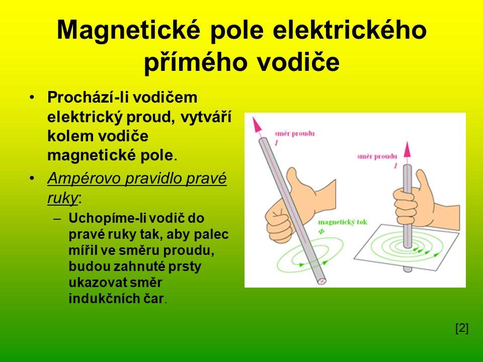 Magnetické pole elektrického přímého vodiče