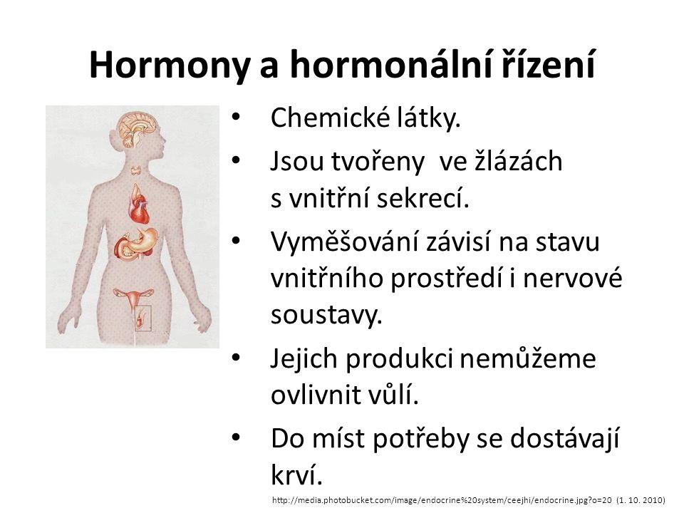 Hormony a hormonální řízení