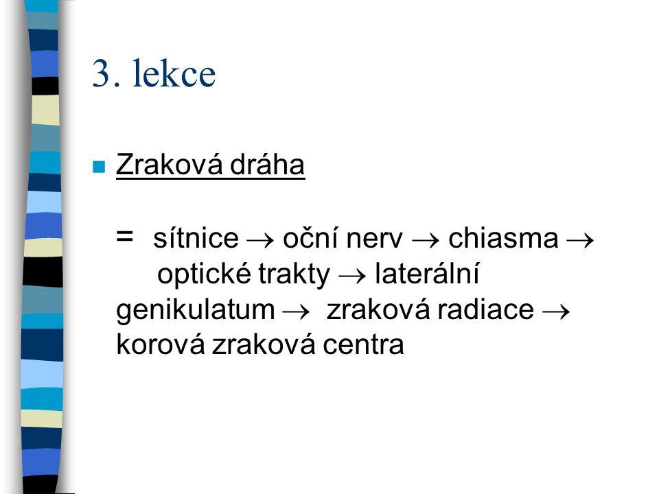 3. lekce Zraková dráha.