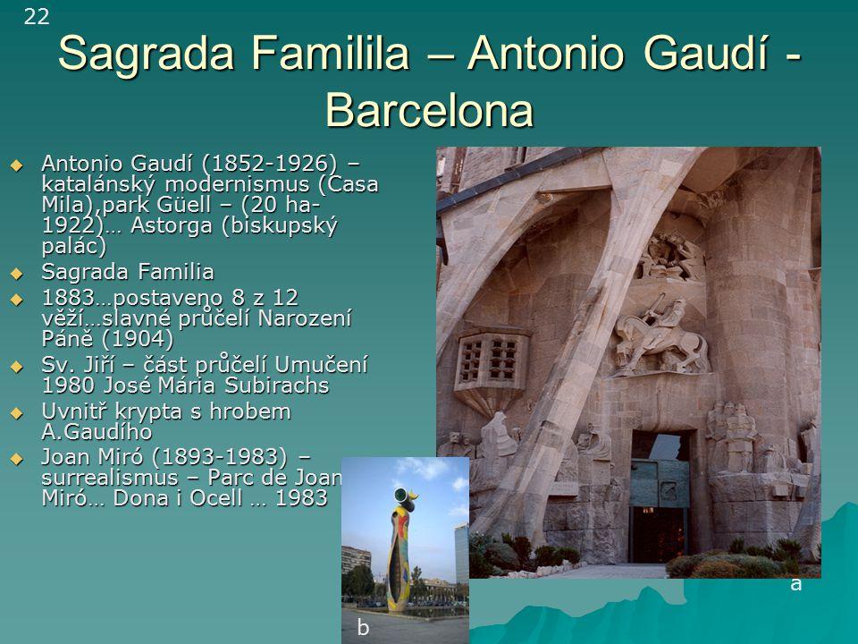 Sagrada Familila – Antonio Gaudí - Barcelona