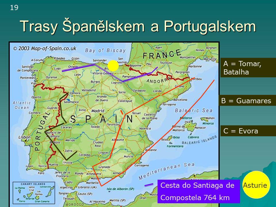 Trasy Španělskem a Portugalskem