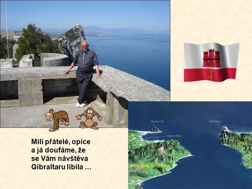 Milí přátelé, opice a já doufáme, že se Vám návštěva Gibraltaru líbila …