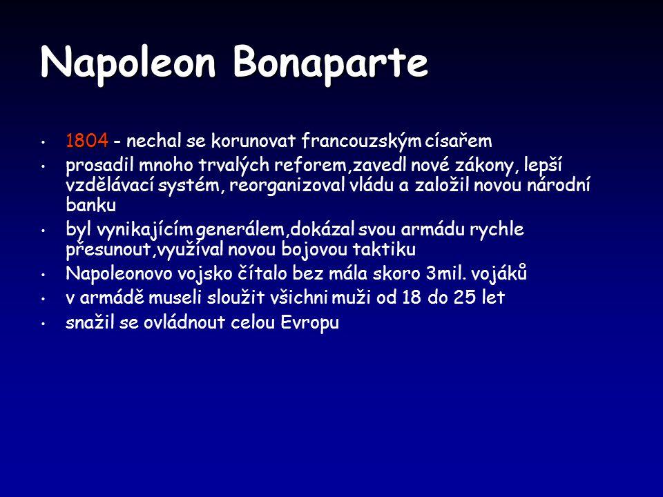 Napoleon Bonaparte 1804 - nechal se korunovat francouzským císařem