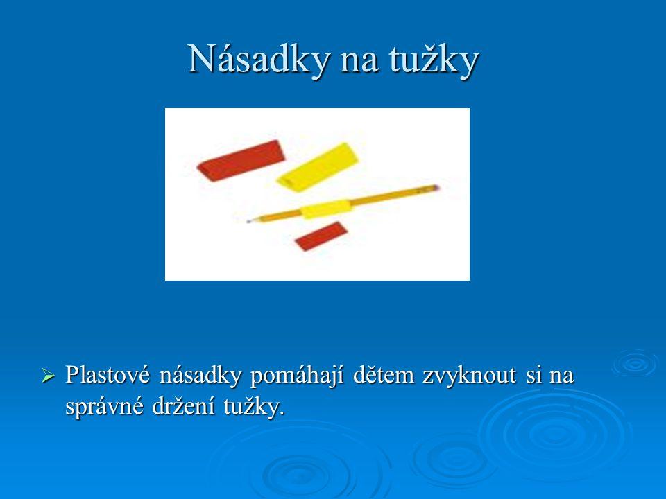 Násadky na tužky Plastové násadky pomáhají dětem zvyknout si na správné držení tužky.
