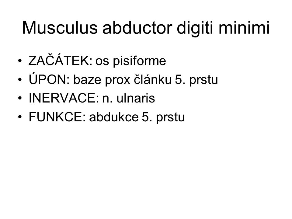 Musculus abductor digiti minimi