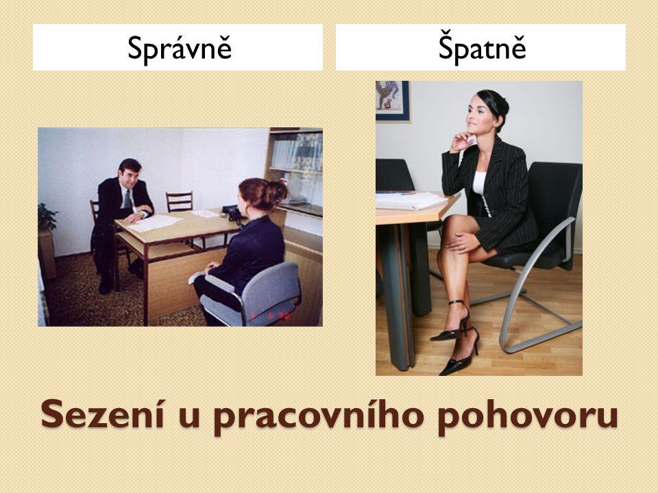 Sezení u pracovního pohovoru