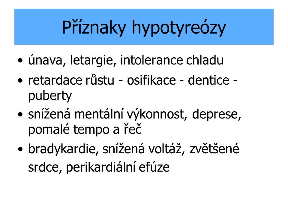 Příznaky hypotyreózy únava, letargie, intolerance chladu