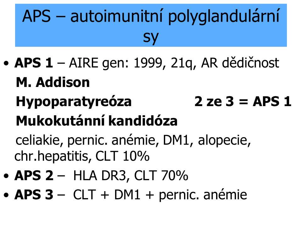 APS – autoimunitní polyglandulární sy