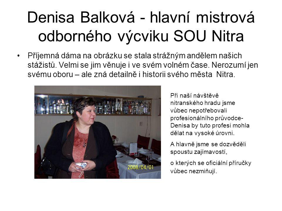 Denisa Balková - hlavní mistrová odborného výcviku SOU Nitra
