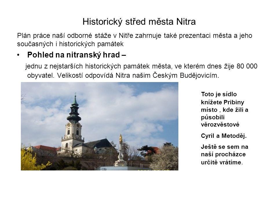 Historický střed města Nitra