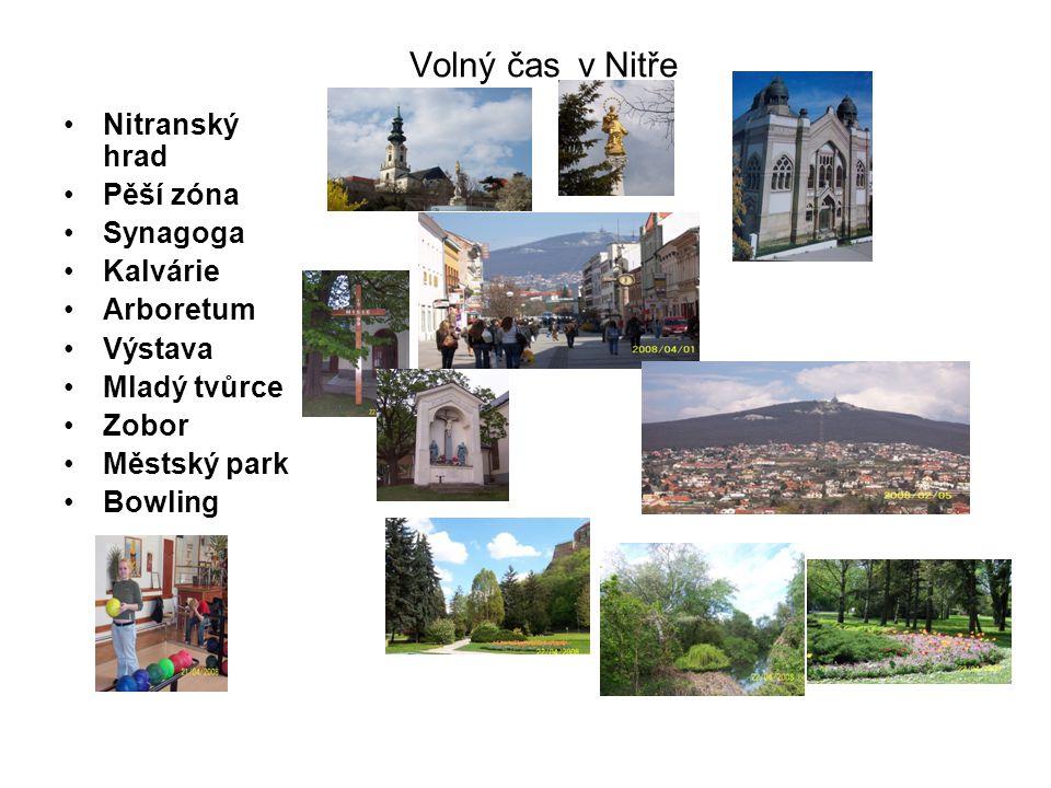 Volný čas v Nitře Nitranský hrad Pěší zóna Synagoga Kalvárie Arboretum