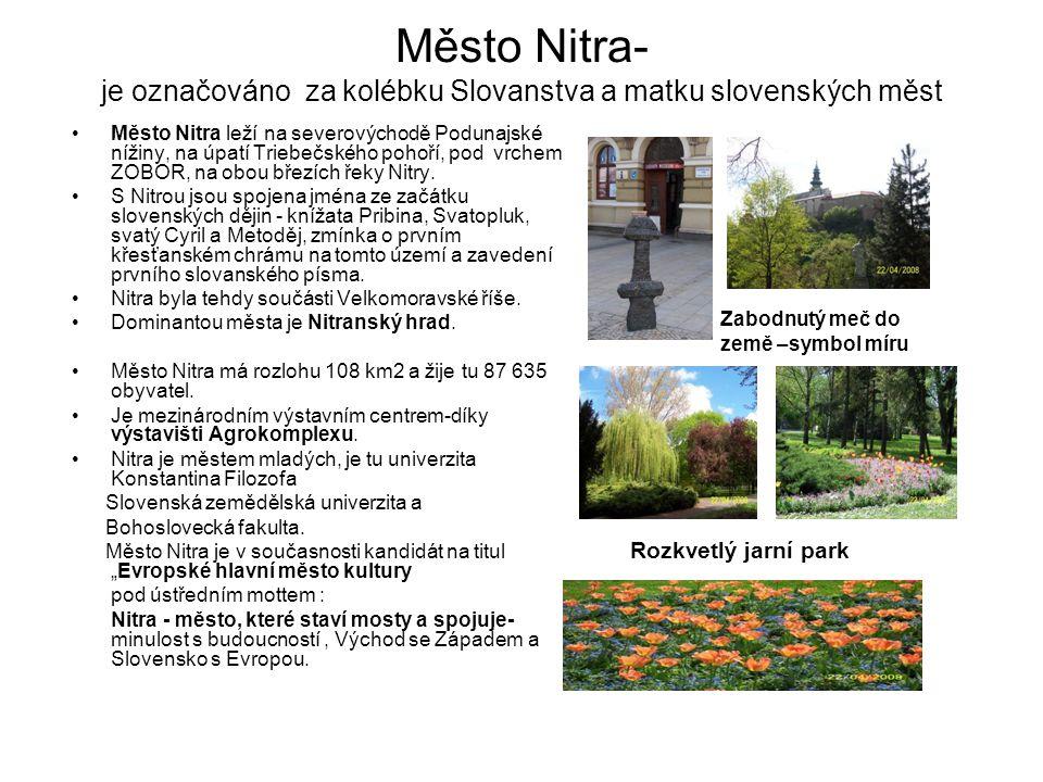 Město Nitra- je označováno za kolébku Slovanstva a matku slovenských měst