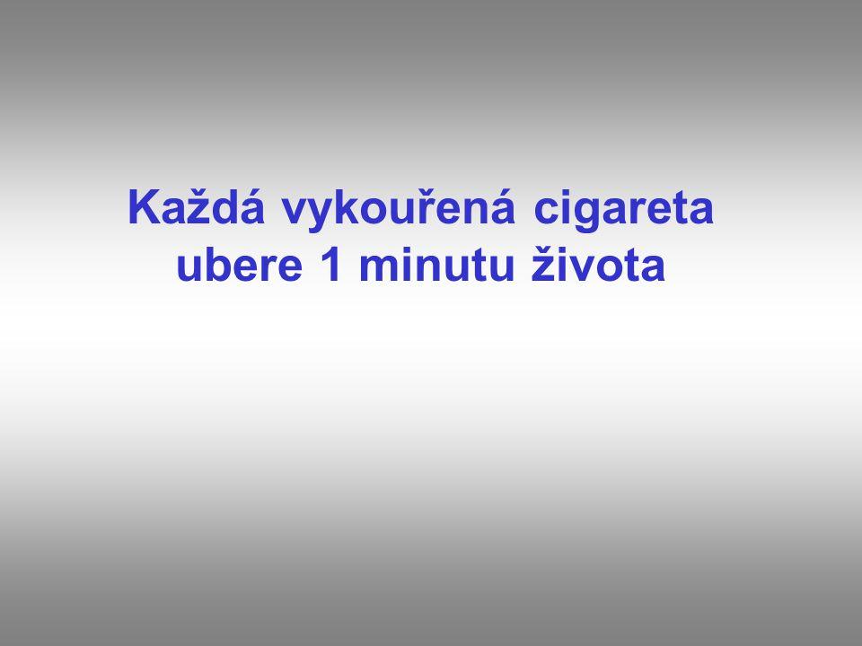 Každá vykouřená cigareta ubere 1 minutu života