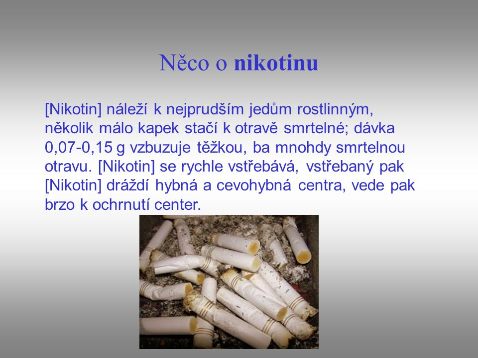 Něco o nikotinu