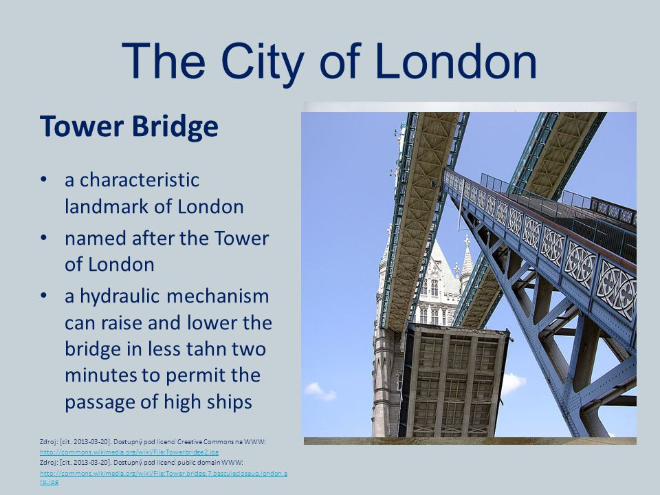The City of London Tower Bridge a characteristic landmark of London